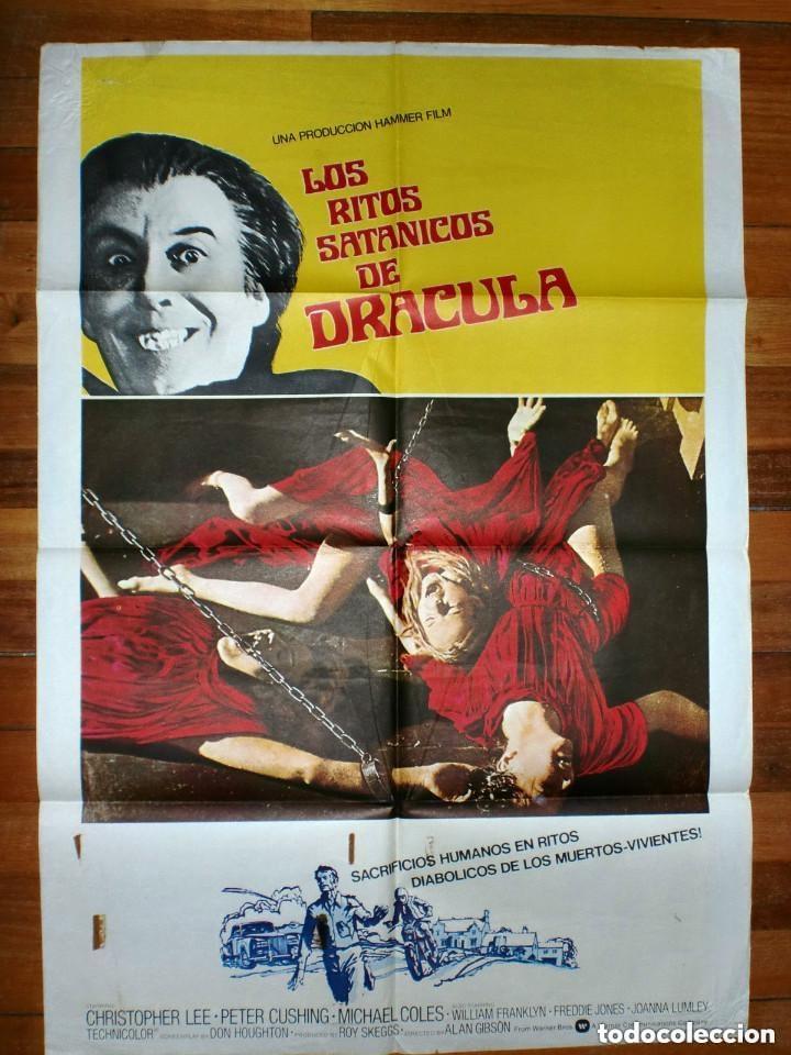 CARTEL CINE: LOS RITOS SATANICOS DE DRACULA - HAMMER FILMS - CHRISTOPHER LEE (Cine - Posters y Carteles - Terror)