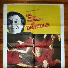 Cine: CARTEL CINE: LOS RITOS SATANICOS DE DRACULA - HAMMER FILMS - CHRISTOPHER LEE . Lote 175131859