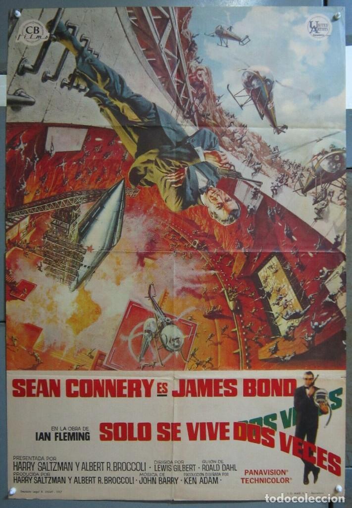 ZR44D SOLO SE VIVE DOS VECES JAMES BOND 007 SEAN CONNERY POSTER ORIGINAL 70X100 ESTRENO A (Cine - Posters y Carteles - Acción)