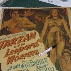 Cine: POSTER DE LA PELICULA TARZAN Y LA MUJER LEOPARDO TAMAÑO 100X74. Lote 175223077