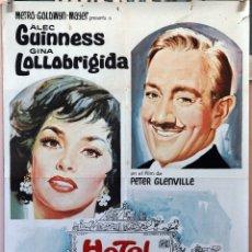 Cine: HOTEL PARADISO. ALEC GUINNESS-GINA LOLLOBRIGIDA. CARTEL ORIGINAL 1966. 70X100. Lote 175309522