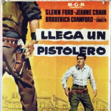 Cine: LLEGA UN PISTOLERO. GLENN FORD. CARTEL ORIGINAL 1961. 70X100. Lote 175310462