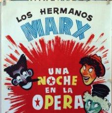 Cine: UNA NOCHE EN LA OPERA. HERMANOS MARX. CARTEL ORIGINAL. 70X100. Lote 175311375