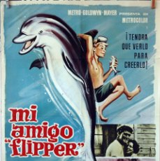 Cine: MI AMIGO FLIPPER. CHUCK CONNORS. CARTEL ORIGINAL 1966. 70X100. Lote 175313273