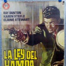 Cine: LA LEY DEL HAMPA. RAY DANTON, KAREN STEELE. AÑO 1965 POSTER ORIGINAL. Lote 175446515