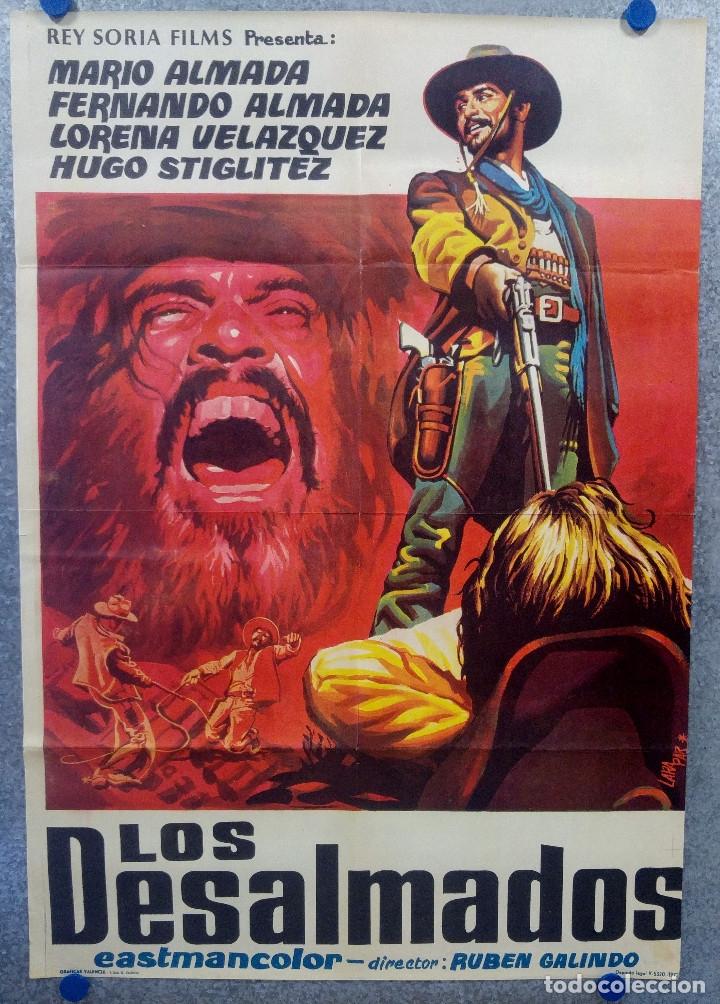 LOS DESALMADOS. MARIO ALMADA, FERNANDO ALMADA, LORENA VELAZQUEZ. AÑO 1972 POSTER ORIGINAL (Cine - Posters y Carteles - Westerns)