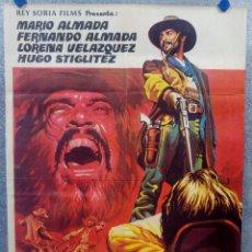 Cine: LOS DESALMADOS. MARIO ALMADA, FERNANDO ALMADA, LORENA VELAZQUEZ. AÑO 1972 POSTER ORIGINAL. Lote 175447668