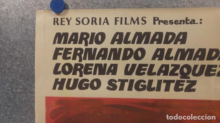 Cine: LOS DESALMADOS. MARIO ALMADA, FERNANDO ALMADA, LORENA VELAZQUEZ. AÑO 1972 POSTER ORIGINAL - Foto 2 - 175447668