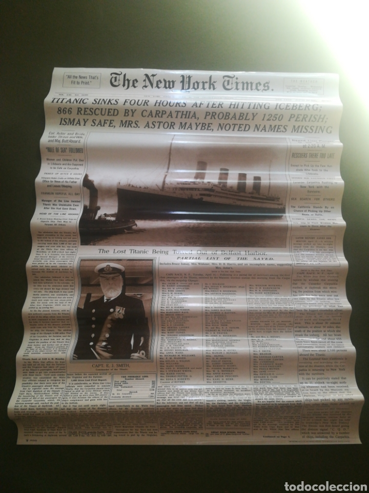 PÓSTER THE NEW YORK TIMES TITANIC (Cine- Posters y Carteles - Drama)