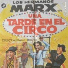 Cine: CARTEL POSTER CINE UNA TARDE EN EL CIRCO, HERMANOS MARX. Lote 175595175
