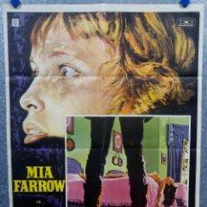 Cine: TERROR CIEGO. MIA FARROW, DOROTHY ALISON, ROBIN BAILEY AÑO 1972. POSTER ORIGINAL. Lote 175616708