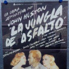 Cine: LA JUNGLA DE ASFALTO. STERLING HAYDEN, MARILYN MONROE, JOHN HUSTON. AÑO 1981. POSTER ORIGINAL. Lote 175618342