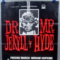 Cine: DR JEKYLL AND MR HYDE. FREDRIC MARCH, MIRIAM HOPKINS .POSTER ORIGINAL. Lote 198675460