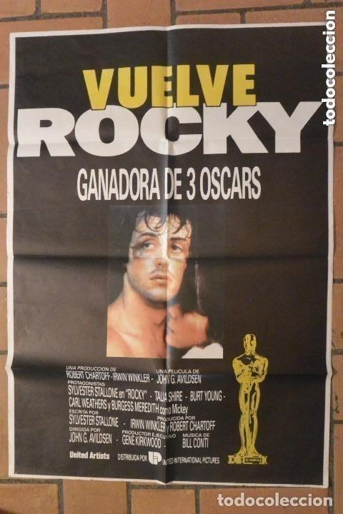 CARTEL POSTER CINE VUELVE ROCKY (Cine - Posters y Carteles - Deportes)