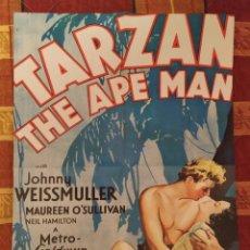 Cine: POSTER TARZÁN (JOHNNY WEISSMULLER) + BELLA Y BESTIA. Lote 175706664