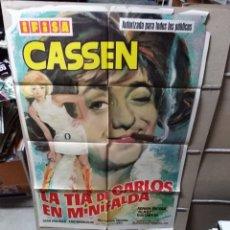 Cine: LA TÍA DE CARLOS EN MINIFALDA CASSEN POSTER ORIGINAL 70X100 YY (2146). Lote 175792330