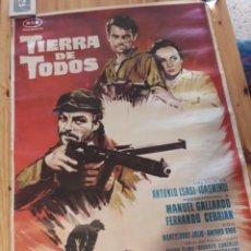 Cine: TIERRA DE TODOS CARTEL CINE ISASI ISASMENDI MANUEL GALLARDO , CEBRIAN MONTSERRAT JULIO AMPARO BARO. Lote 175857205