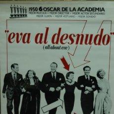 Cinéma: EVA AL DESNUDO - CARTEL POSTER ORIGINAL JOSEPH LEO MANKIEWICZ MARILYN MONROE BETTE DAVIS SIN DOBLAR. Lote 175889197