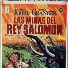 Cine: LAS MINAS DEL REY SALOMÓN. DEBORAH KERR-STEWART GRANGER. CARTEL ORIGINAL 1979. 100X70. Lote 175923189