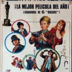 Cine: OLIVER. CAROL REED. CARTEL ORIGINAL 1968. 100X70. Lote 175924060