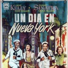 Cine: UN DÍA EN NUEVA YORK. GENE KELLY-FRANK SINATRA. CARTEL ORIGINAL 1968. 100X70. Lote 175925124