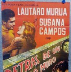 Cine: DETRÁS DE UN LARGO MURO. SUSANA CAMPOS, GLORIA FERRANDIZ 1961 POSTER ORIGINAL. Lote 175960465