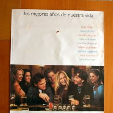 Cine: PÓSTER DE CARTELERA DE CINE -BEAUTIFUL GIRLS -NATALIE PORTMAN -UMA THURMAN-MATT DILLON 1996-97X68 CM. Lote 175974232