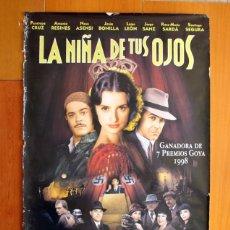Cine: PÓSTER DE CARTELERA DE CINE - LA NIÑA DE TUS OJOS - PENÉLOPE CRUZ, ANTONIO RESINES 1998 - 99X68 CM. Lote 175974622
