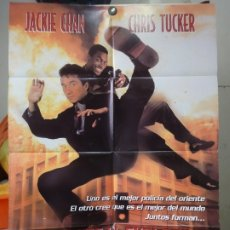 Cine: ORIGINAL SPANISH POSTER RUSH HOUR JACKIE CHAN CHRIS TUCKER KEN LEUNG DOUBLE SIDE. Lote 176011185