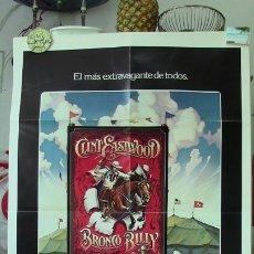Cine: ORIGINAL SPANISH POSTER BRONCO BILLY CLINT EASTWOOD SONDRA LOCKE GEOFFREY LEWIS. Lote 176012833