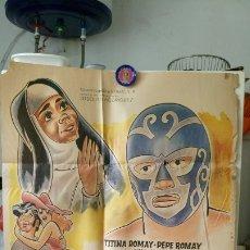 Cine: ORIGINAL MEXICAN POSTER HURACAN RAMIREZ Y LA MONJITA NEGRA TITINA ROMAY 1973. Lote 176025183