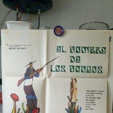 Cine: ORIGINAL MEXICAN POSTER EL HOMBRE DE LOS HONGOS THE MUSHROOM EATER ADOLFO MARSILLACH ISELA VEGA . Lote 176025332