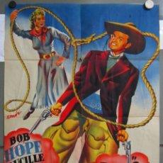 Cine: ZT43 EL REY DEL OESTE BOB HOPE LUCILLE BALL POSTER ORIGINAL 70X100 ESTRENO LITOGRAFIA. Lote 176095578