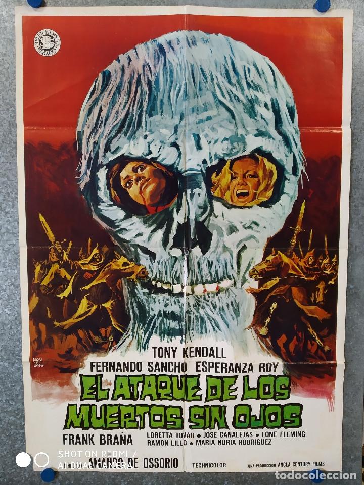EL ATAQUE DE LOS MUERTOS SIN OJOS. TONY KENDALL, FERNANDO SANCHO, ESPERANZA ROY. POSTER ORIGINAL (Cine - Posters y Carteles - Terror)