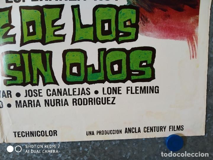 Cine: El ataque de los muertos sin ojos. Tony Kendall, Fernando Sancho, Esperanza Roy. POSTER ORIGINAL - Foto 6 - 176098233