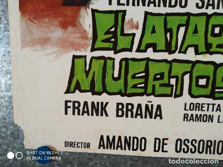 Cine: El ataque de los muertos sin ojos. Tony Kendall, Fernando Sancho, Esperanza Roy. POSTER ORIGINAL - Foto 8 - 176098233