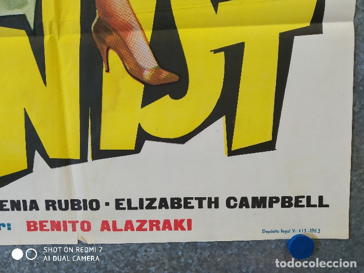 Cine: A RITMO DE TWIST. MARIA EUGENIA RUBIO, THE HOOLIGANS, REBELDES DEL ROCK, BEATNIKS AÑO 1963 POSTER - Foto 5 - 176105620