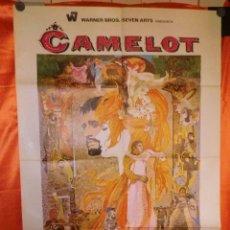 Cine: CAMELOT - JOSHUA LOGAN - RICHARD HARRIS - VANESSA REDGRAVE - FRANCO NERO - CARTEL ORIGINAL. Lote 176131907
