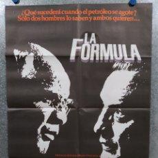 Cine: LA FORMULA. MARLON BRANDO, GEORGE C. SCOTT, MARTHE KELLER. AÑO 1981. POSTER ORIGINAL. Lote 176206537