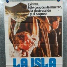 Cine: LA ISLA. MICHAEL CAINE, DAVID WARNER AÑO 1980. POSTER ORIGINAL. Lote 176208669