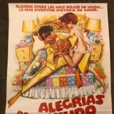 Cine: CARTEL CINE. LAS ALEGRÍAS DE UN VIUDO, CON WALTER MATTHAU , GLENDA JACKSON (A.1978). Lote 176295074