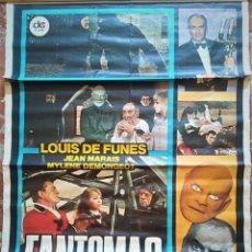 Cine: CARTEL CINE FANTOMAS LITOGRAFIA MIRABET VALENCIA LOUIS DE FUNES. Lote 176465357