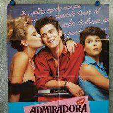 Cine: ADMIRADORA SECRETA. C. THOMAS HOWELL, LORI LOUGHLIN, KELLY PRESTON AÑO 1985 POSTER ORIGINAL. Lote 176574442