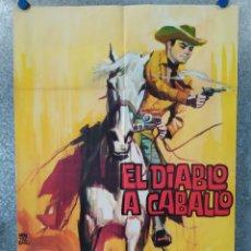 Cine: EL DIABLO A CABALLO. FERNANDO CASANOVA, OLIVIA MICHEL AÑO 1964 POSTER ORIGINAL. Lote 176574858