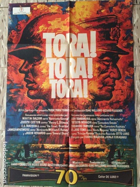 CARTEL POSTER ORIGINAL CINE TORA TORA TORA 70 X 100 APROX MACARIO GOMEZ MAC (Cine - Posters y Carteles - Bélicas)