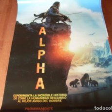 Cine: ALPHA - CARTEL ORIGINAL. Lote 176925692