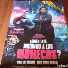 Cine: QUIEN ESTA MATANDO A LOS MOÑECOS? - CARTEL ORIGINAL. Lote 176925880