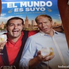 Cine: EL MUNDO ES SUYO - CARTEL ORIGINAL. Lote 176928287