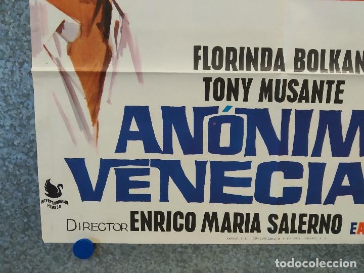 Cine: ANONIMO VENECIANO. FLORINDA BOLKAM, TONY MUSANTE. AÑO 1971. POSTER ORIGINAL - Foto 9 - 176937968