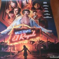 Cine: MALOS TIEMPOS EN EL ROYALE - CARTEL ORIGINAL. Lote 176939270